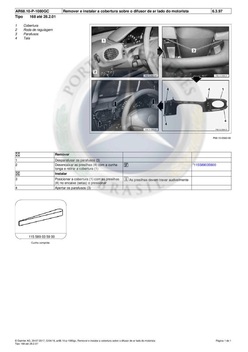 (DIY - W168): Como retirar as capas do painel Md1_w110