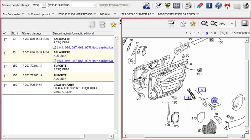 Puxador de Porta ou Balaustre - A2038101551 9116 - W203046 C180K Puxado10