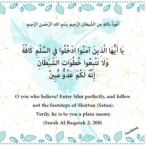 Enter Silm (Islam)  perfectly (Surah Al-Baqarah 2: 208-209) 0610