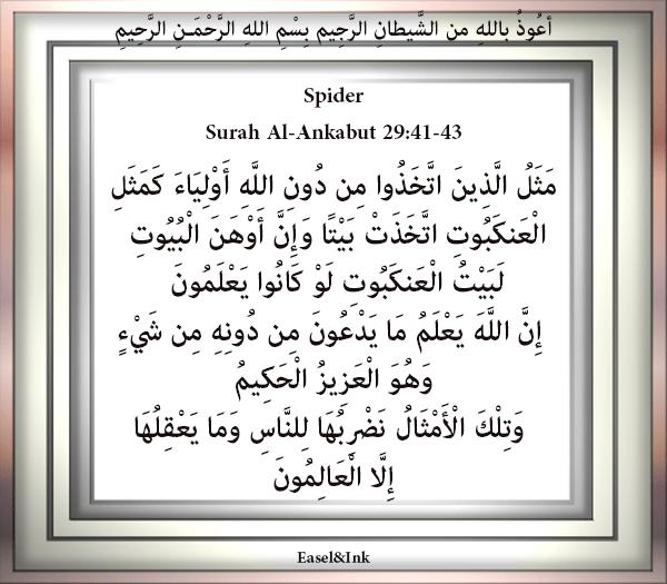 Spider (Surah Al-Ankabut 29:41-43) S29a4110