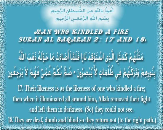 Man who Kindled a Fire (Surah Al-Baqarah 2:17-18) S2a17-10