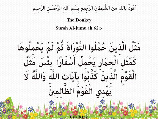 The Donkey (Surah Al-Jumu'ah 62:5) S62a5p10