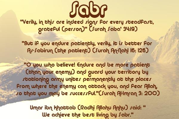 Healing with the Medicine of the Prophet (Sallallahu Alayhi wa Sallam) –Ibn Qayyim Sabr10