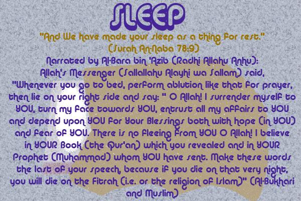 Healing with the Medicine of the Prophet (Sallallahu Alayhi wa Sallam) –Ibn Qayyim Sleep10