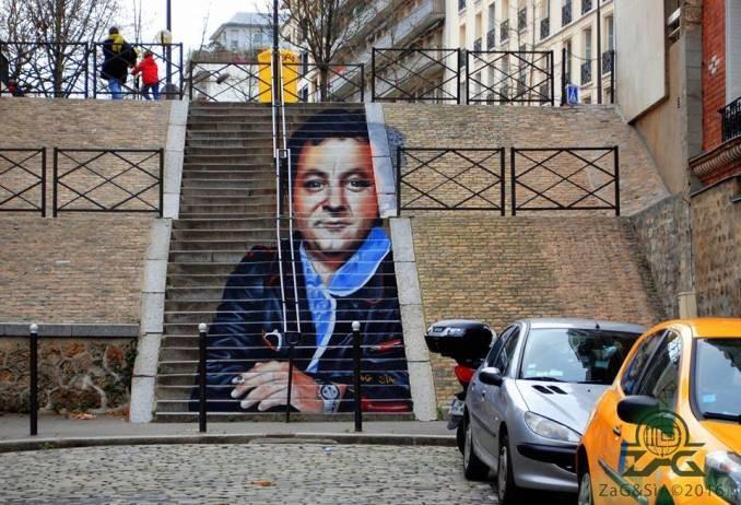Escaliers peints de Paname et d'ailleurs. Illusions d'optiques de ZAG et SIA A53