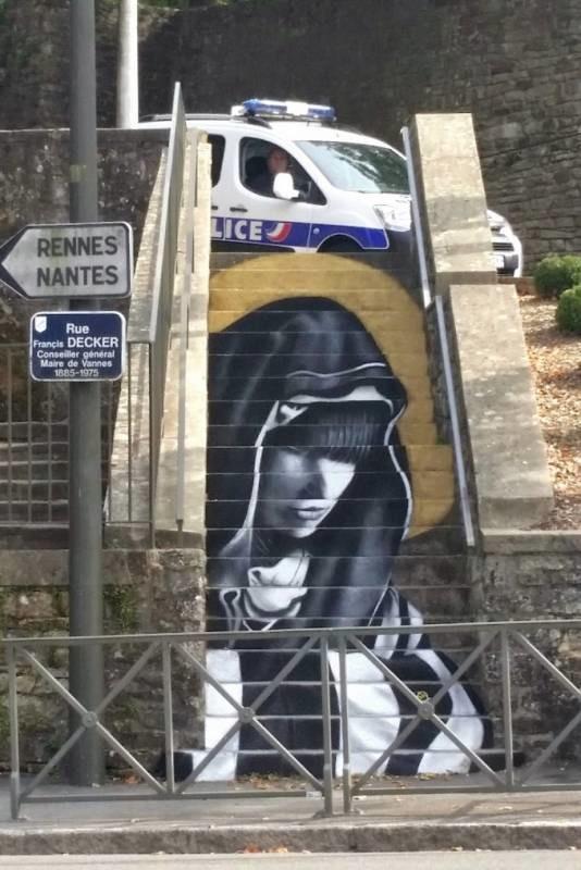 Escaliers peints de Paname et d'ailleurs. Illusions d'optiques de ZAG et SIA A76