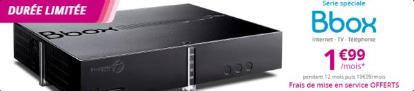 L'offre Bbox ADSL à 1,99€/mois prolongée jusqu'au lundi 31 juillet 15002710
