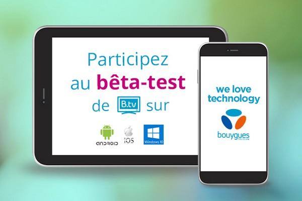 Participez au test de la nouvelle version de l'appli B.tv en avant-première Btvbet10