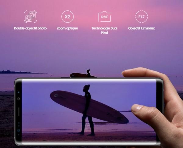 Le Samsung Galaxy Note 8 se distingue donc par son très grand écran AMOLED  haute définition de 6,3 pouces avec des bords incurvés, avec un design  assez ... f9ec895b8238