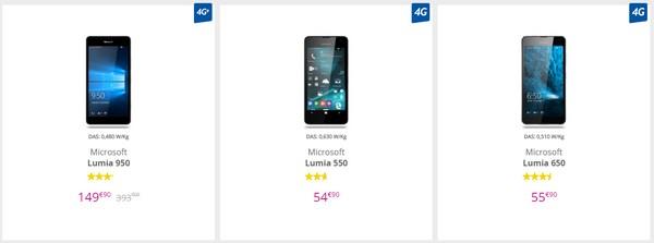 Soldes monstrueuses sur les Lumia 550, 650 et 950 chez Bouygues Telecom Lumia10