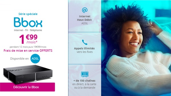 L'offre Bbox ADSL à 1,99€/mois jusqu'au 27/07/17 Offreb10