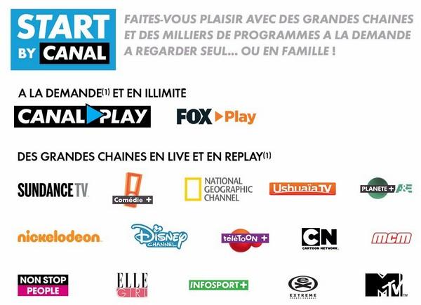 Start by Canal gratuit avec l'offre Bbox Miami+ de Bouygues Telecom Start10