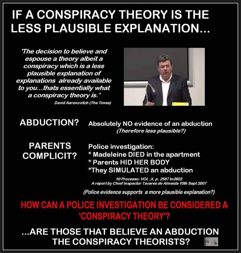 How can a POLICE INVESTIGATION be considered a conspiracy theory? Video of  David AaronovitchOct 2014 Conspi11