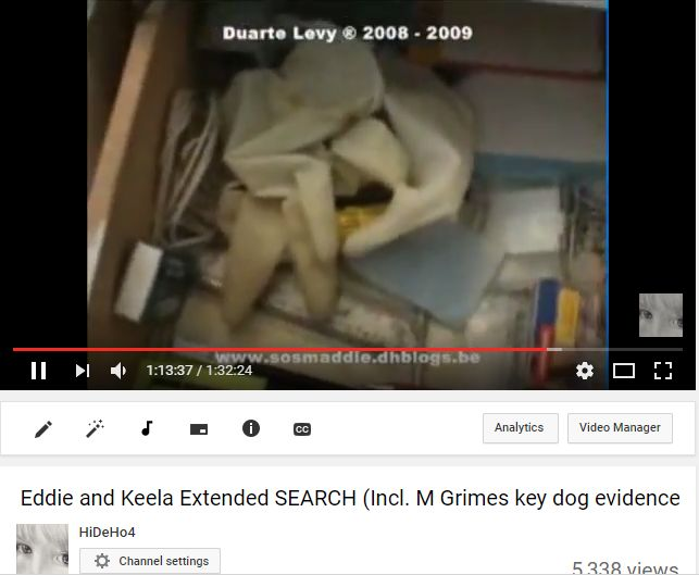 Madeleine McCann - the evidence of the cadaver dogs Gloves10