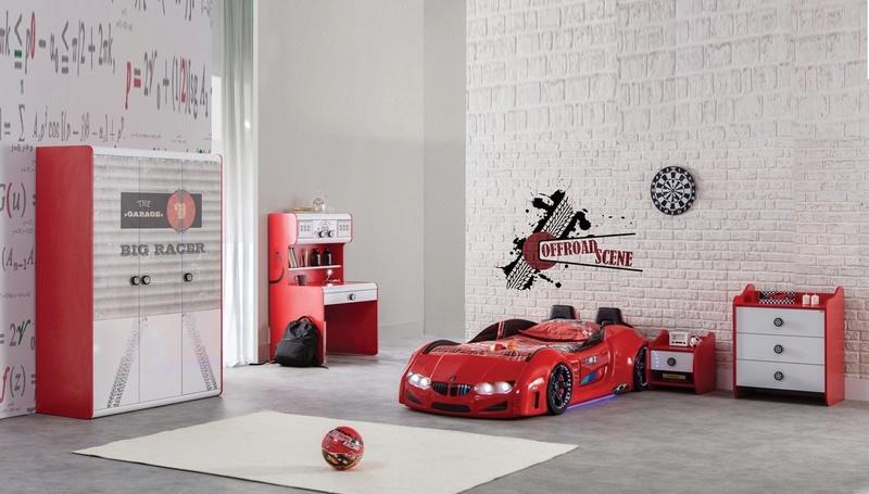 غرف نوم اطفال على شكل سيارة Racer-10