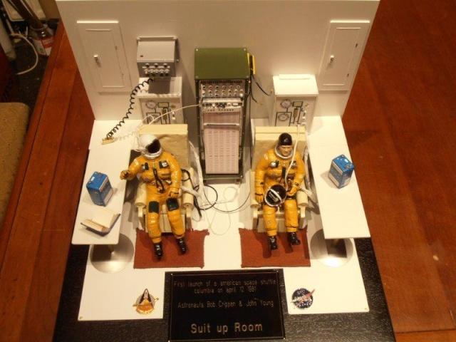 Salle de préparation pour STS 1 - Diorama 01610
