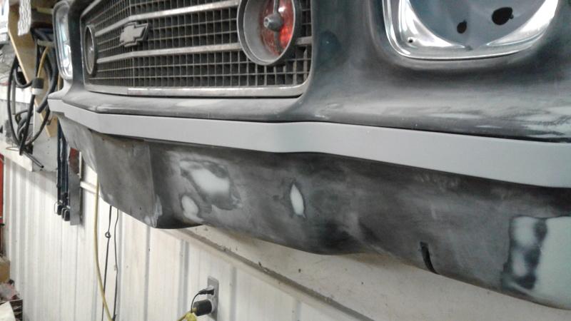 73 Laguna custom front bumper impact strip. 20170210