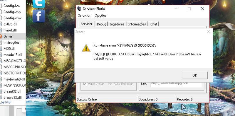 [TUTORIAL]Como ligar o servidor sem erros Erro_f10