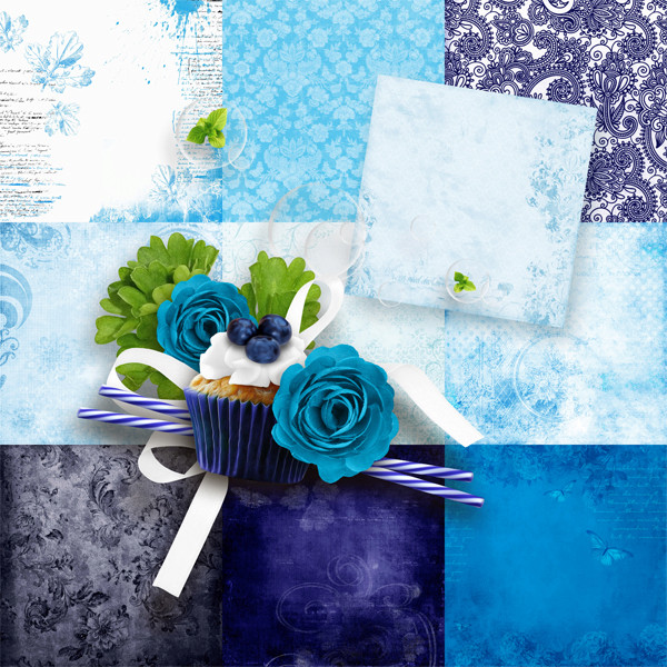 Blueberry pop Collection par Graphia Bella Gbe_bl24