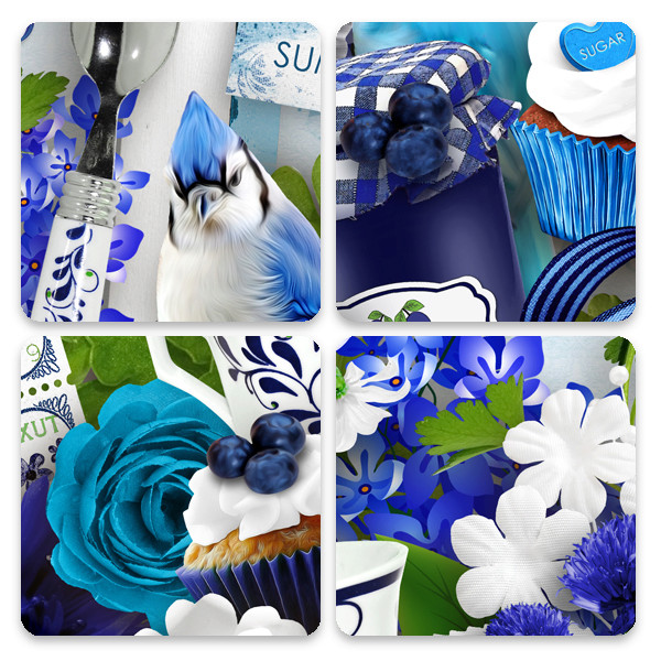 Blueberry pop Collection par Graphia Bella Gbe_bl25