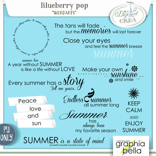 Blueberry pop Collection par Graphia Bella Gbe_bl27