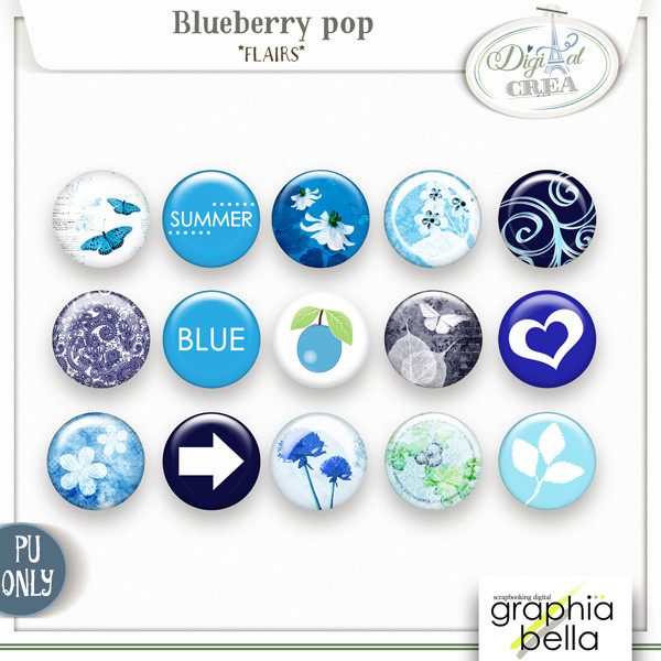 Blueberry pop Collection par Graphia Bella Gbe_bl28
