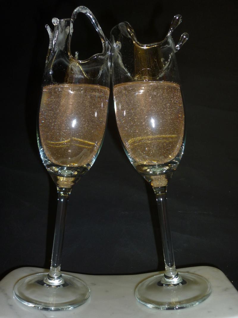 35 bulles qui pétillent  (Verre / Résine)  Pat5 P1020715