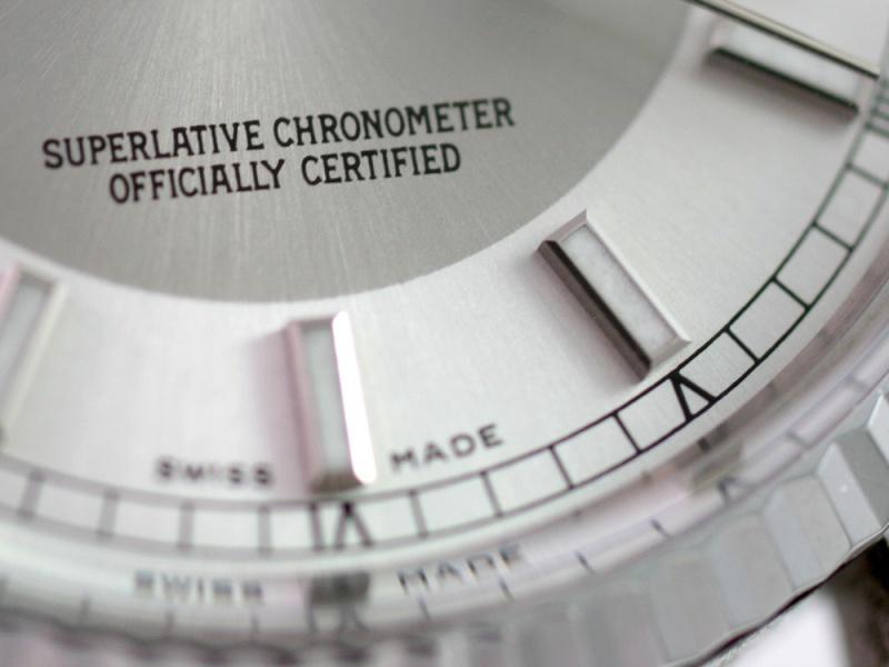 """(Vendue) Rolex Datejust plexi lunette or gris cadran """"Tuxedo"""" acier/argent Img_0614"""