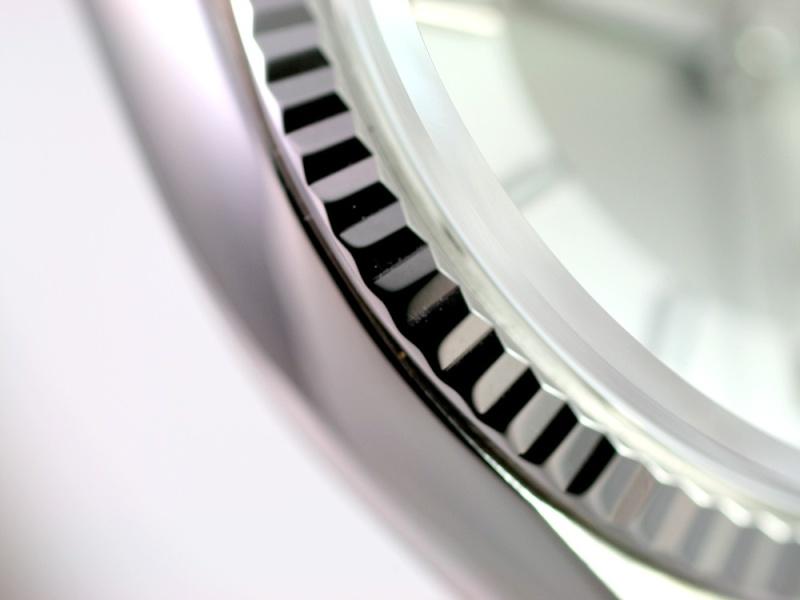 """(Vendue) Rolex Datejust plexi lunette or gris cadran """"Tuxedo"""" acier/argent Img_0615"""