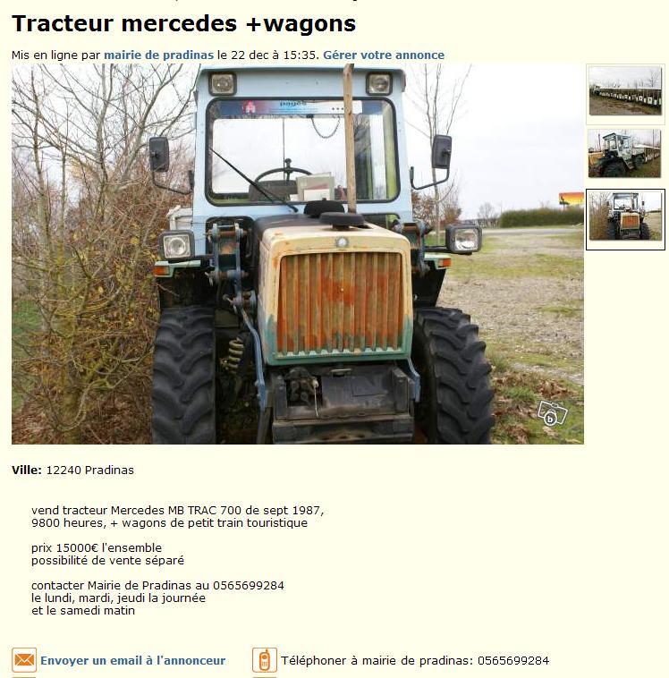 """mb trac """"petit train"""" Mbtrac10"""