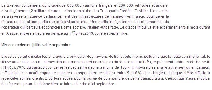 Ecotaxe 2013, NON c'est 2014 ! S310