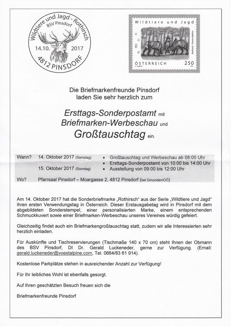 Großtauschtag - Werbeschau- Sonderpostamt 4812 Pinsdorf Img38