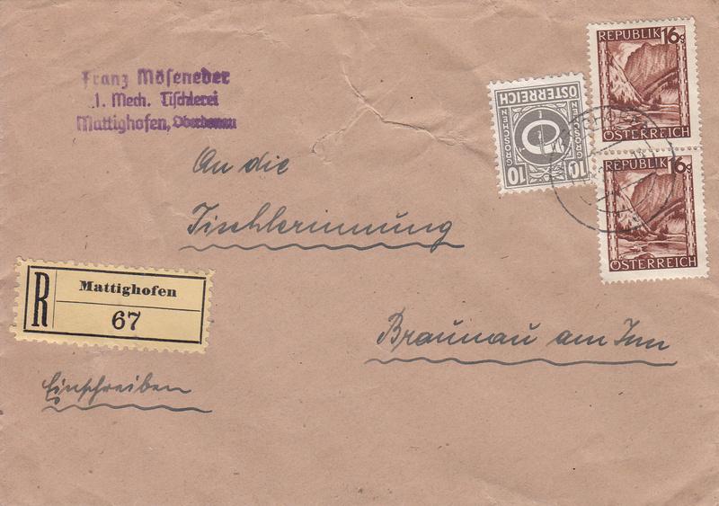 Posthornzeichnung  -  ANK 697-713  -  Belege - Seite 3 Img50