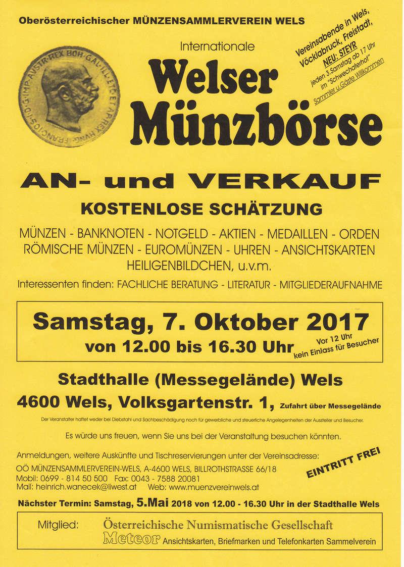 Welser Münzbörse mit Philatelie/Ansichtskarten Img60