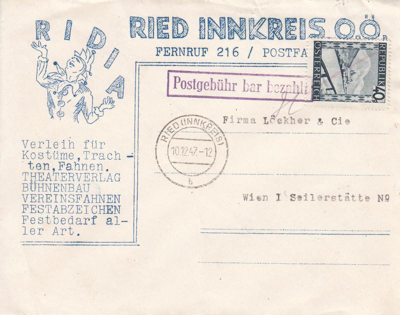 Österreich 2. Währungsreform 10.12.1947 - Belege Img_0102