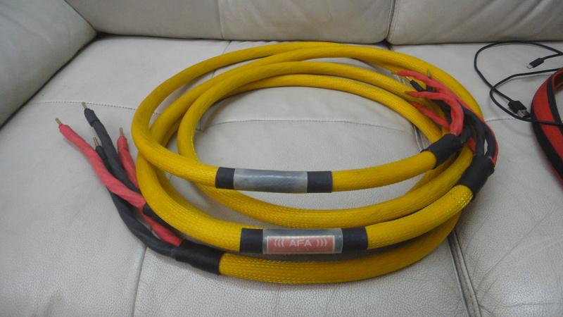 AFA zeus bi-wire speaker cable Dsc06210