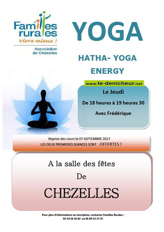 CHEZELLES - Reprise des cours de yoga le 7 septembre 2017*/ 09-07_10