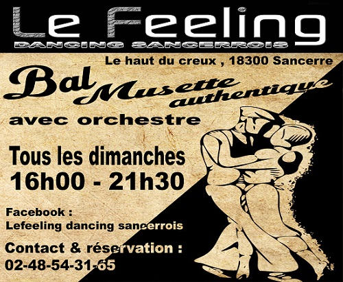 SANCERRE - LE FEELING - Dancing avec orchestre, bal musette  Feelin10