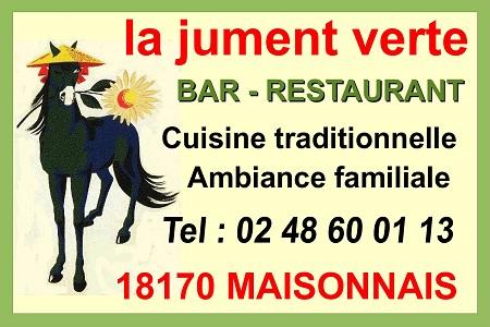 MAISONNAIS (Cher) - LA JUMENT VERTE - Bar - Restaurant - Cuisine traditionnelle Maison10