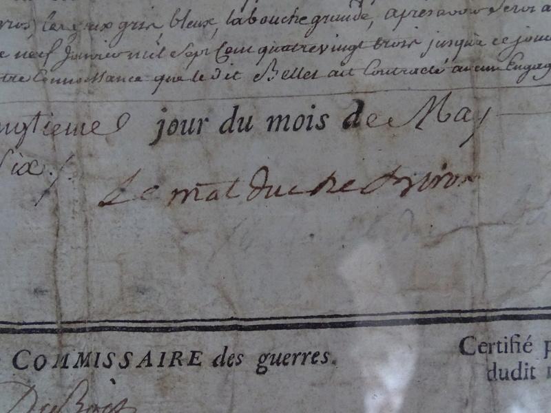 Congé militaire Régiment des Gardes Françaises 1786 Congy_10