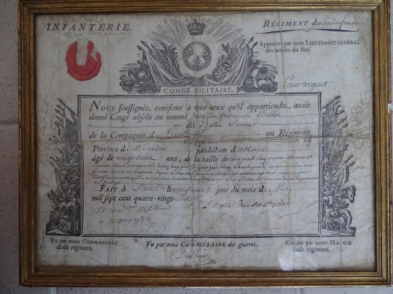 Congé militaire Régiment des Gardes Françaises 1786 Congy_13