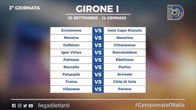 Calendario Serie D girone I stagione 2017/2018 210