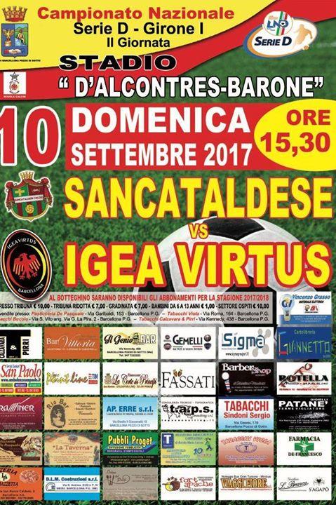 Campionato 2°giornata: Igea Virtus - SANCATALDESE 0-0 21318910