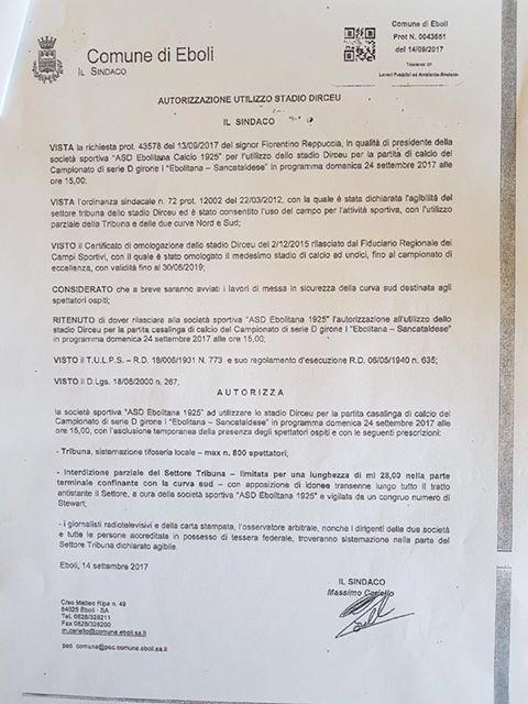 Campionato 4°giornata: Ebolitana - SANCATALDESE 1-1   21616210