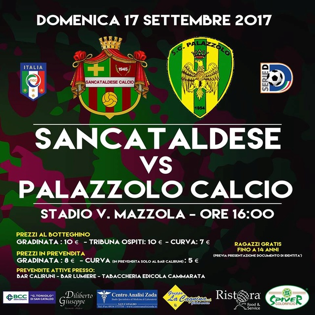 Campionato 3°giornata: SANCATALDESE - Palazzolo 3-2 21728010