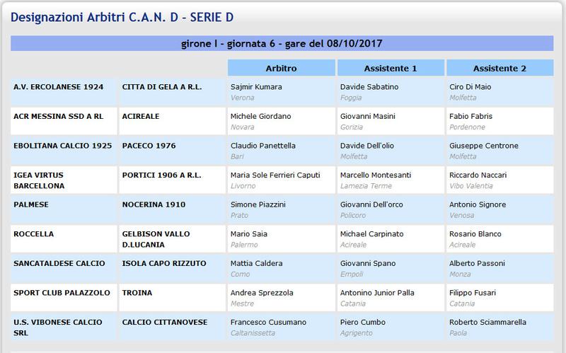 Campionato 6°giornata: SANCATALDESE - Isola Capo Rizzuto 4-0 Aia610