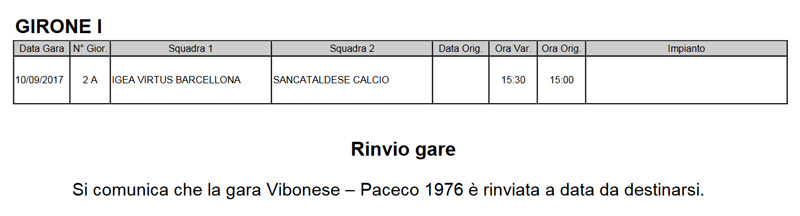 Campionato 2°giornata: Igea Virtus - SANCATALDESE 0-0 Cu10