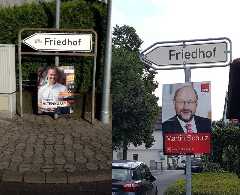 Das Duell Merkel -Schulz jetz im Fernsehen . Friedh10