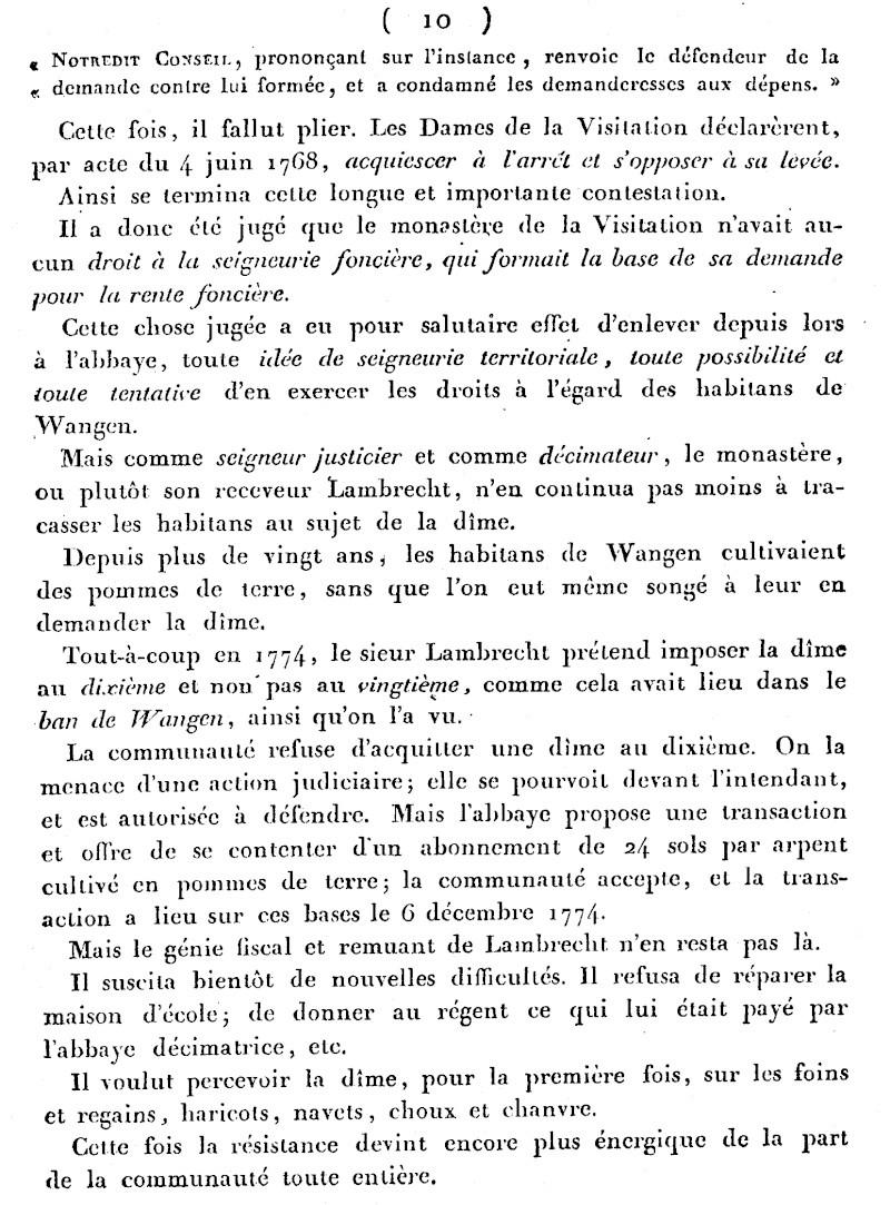Mémoire d'un procès qui fit couler beaucoup de vin...à Wangen Numari16