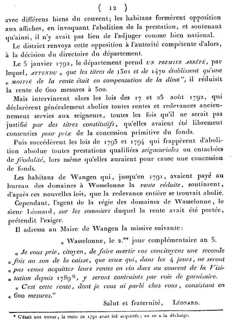 Mémoire d'un procès qui fit couler beaucoup de vin...à Wangen Numari18